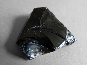 Figure 1: Obsidian volcanic glass