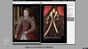 figure 4: Annotation in Mirador