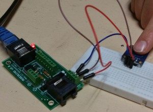 Figure 4. Museduino satellite board with capacitive touch sensor Circuit credit: Rianne Trujillo