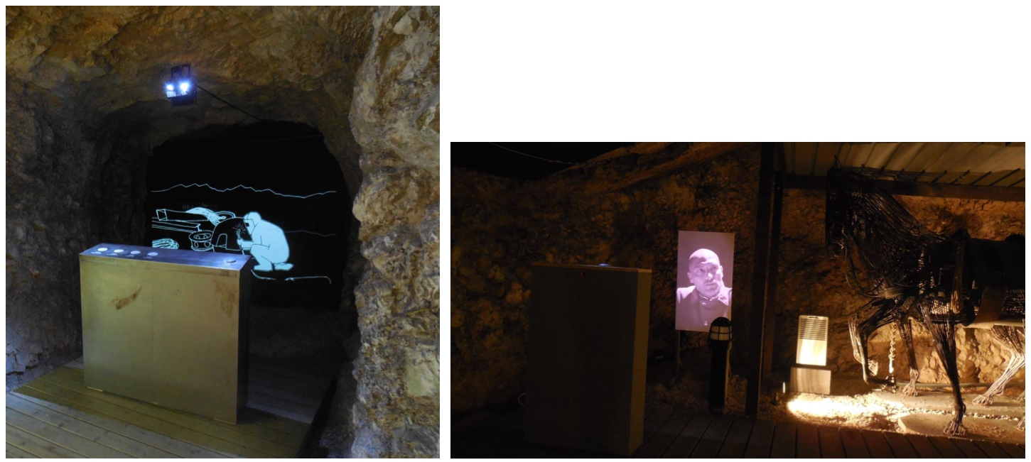 Figure 9. Two of the multimedia installations.