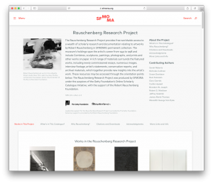 SFMOMA's Rauschenberg Research Project