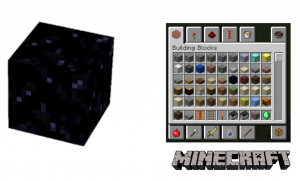 Figure 2: Obsidian in Minecraft