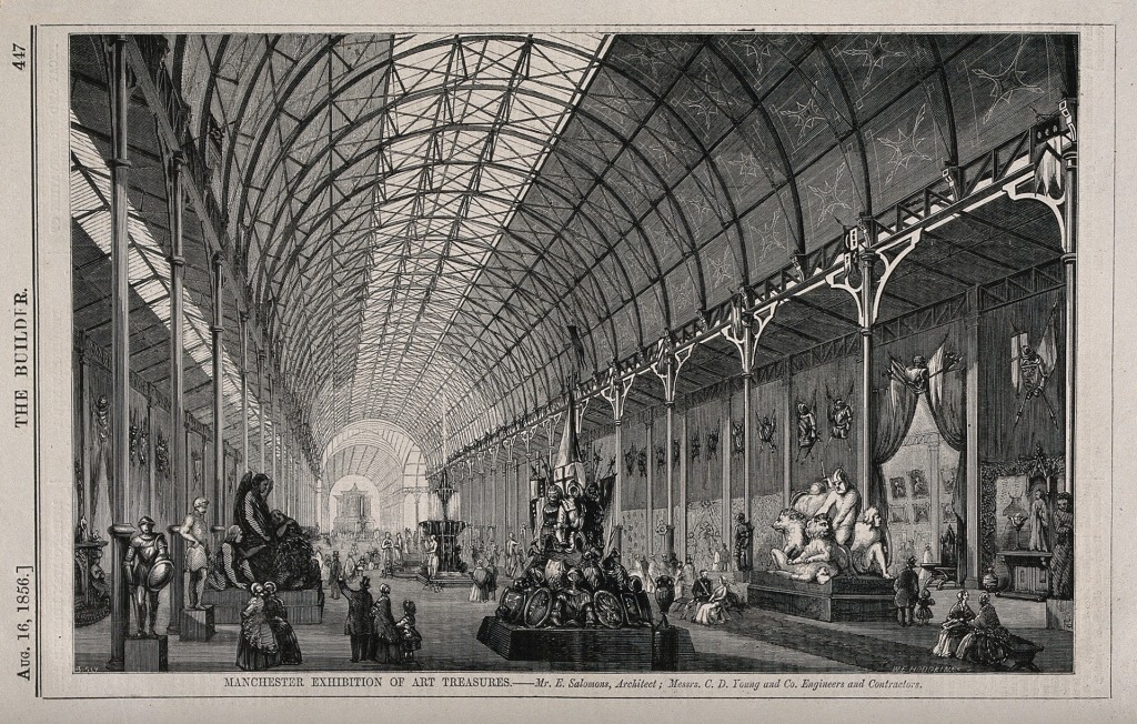 Figure 2. Manchester Exhibition of Art Treasures, Manchester, England: interior gallery. Wood engraving by W.E. Hodgkin, 1856. Wikimedia Commons / Wellcome Library.