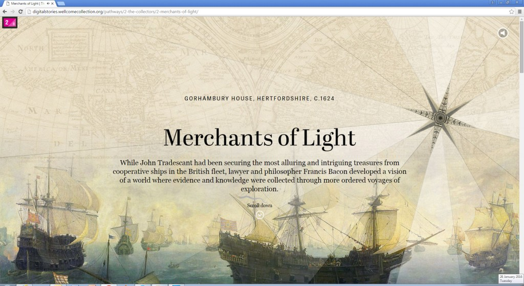Figure 7. Lush graphics: opening montage from the 'Merchants of Light' chapter of 'The Collectors'. Wellcome Collection.