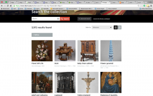 Searching for flowers on the Rijksmuseum website.