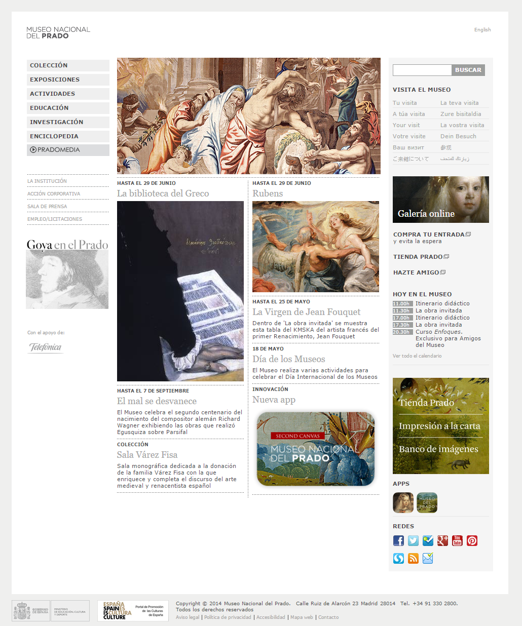 Figure 1. Forner Museo del Prado's website (Published 2007)