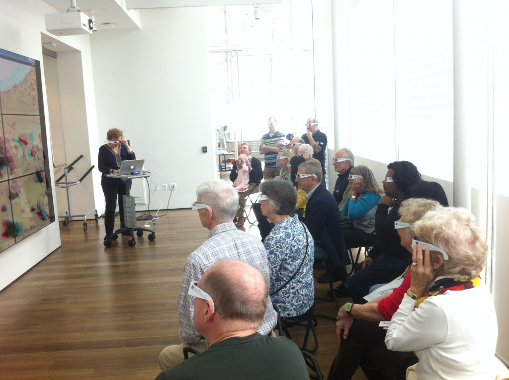 Figure 16 – An audience during an in-gallery event