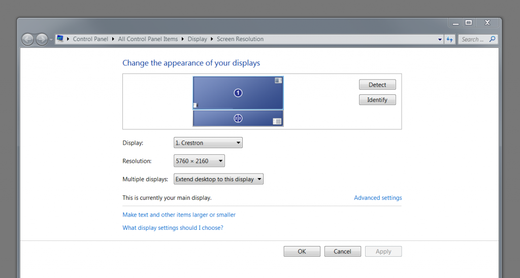 Figure 9 – Windows display dialog