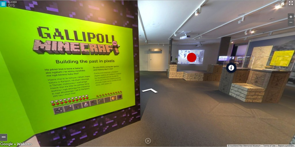 Figure 18: The final look & feel of the Gallipoli in Minecraft exhibition (link to interactive)