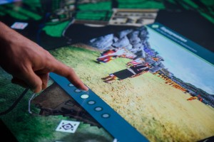 View of an Inka ceremony in an image gallery viewer on a multitouch table
