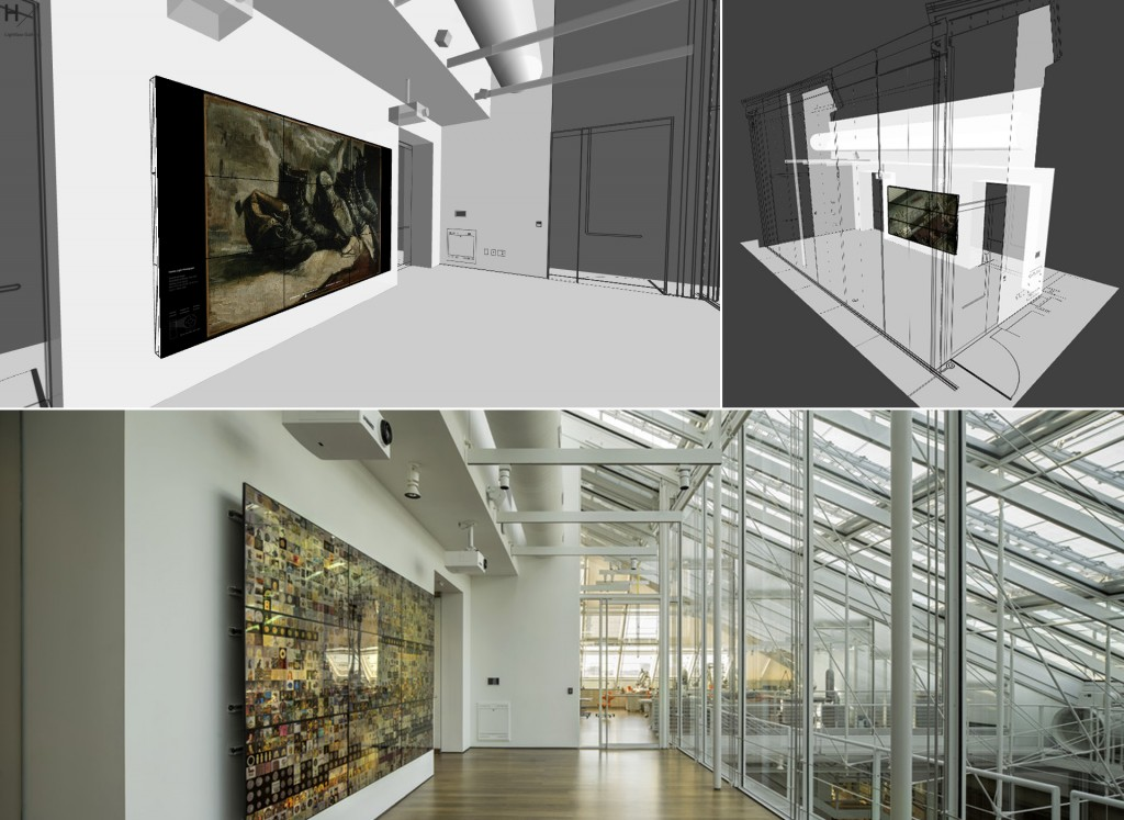 Virtual Lightbox Gallery and the physical gallery