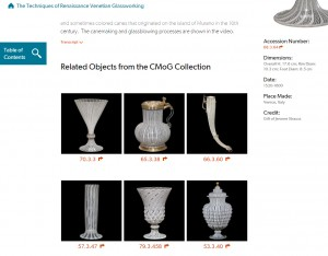 See objects in the Corning Museum collection made using the same glassworking techniques.