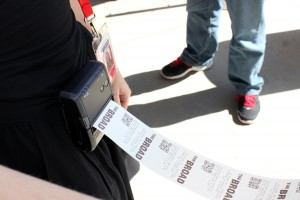 Tickets can also be printed from hip printers.