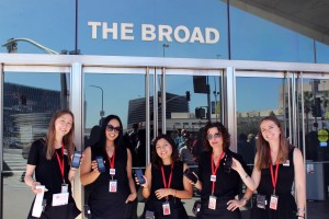 The Broad's Visitor Services Associates with mobile scanners and hip ticket printers.
