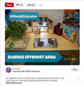 View additional participant work by searching #SheddEducator on Learning with Shedd's Pinterest boards.