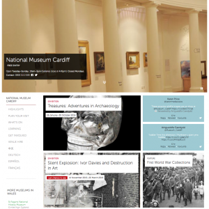 Homepage for National Museum Cardiff
