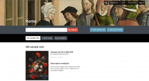 Homepage of the paint sample database: an overview of all paintings that were researched between 1995 and 2016