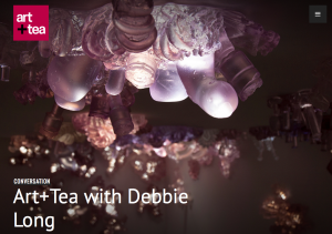 This image shows the front page of Debbie Long's Art+Tea -- all using free WordPress account and an inexpensive premium theme. Viva DIY low-budget projects!