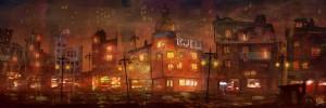 ciudad concept visual (prueba de color y estetica)