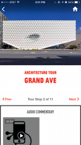 Audio tour stop about why The Broad is located on Grand Avenue.