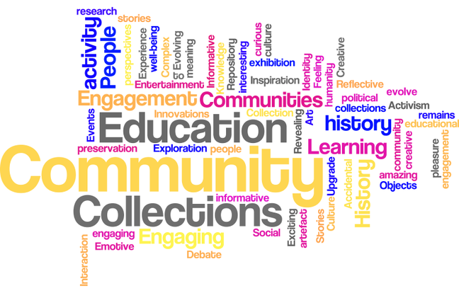 Learners were invited to submit three words to describe museums. These were there three words in week 1. The exercise was repeated in week 6.
